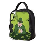 St Patricks Day Man with Beer Neoprene Lunch Bag