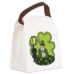 St Patricks Day Man with Beer Canvas Lunch Bag