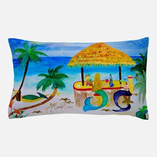 Mermaid Beach Tiki Bar Pillow Case