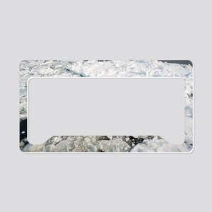 winter drift ice License Plate Holder