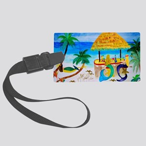 Mermaid Beach Bar Large Luggage Tag