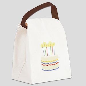 Birthday Cake Canvas Lunch Bag