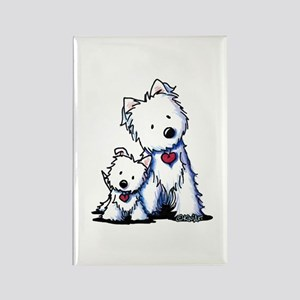 KiniArt Westie Buds Rectangle Magnet