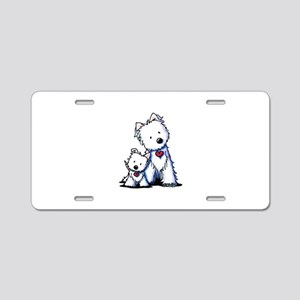 KiniArt Westie Buds Aluminum License Plate