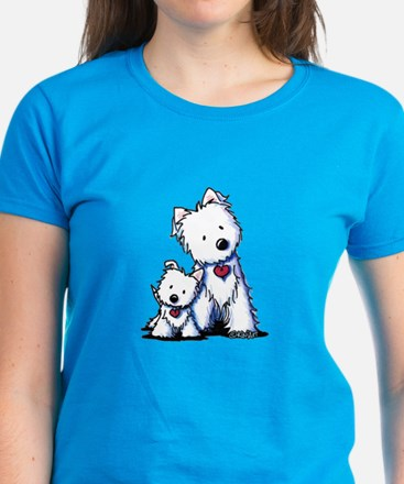 KiniArt Westie Buds Women's Dark T-Shirt