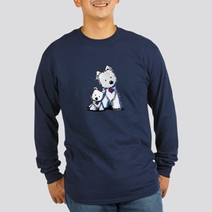 KiniArt Westie Buds Long Sleeve Dark T-Shirt