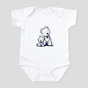 KiniArt Westie Buds Infant Bodysuit