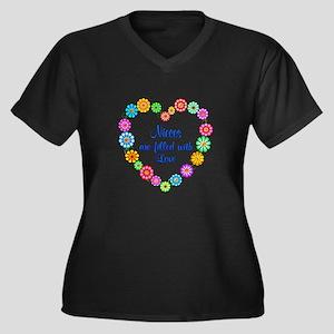 Niece Love Women's Plus Size V-Neck Dark T-Shirt