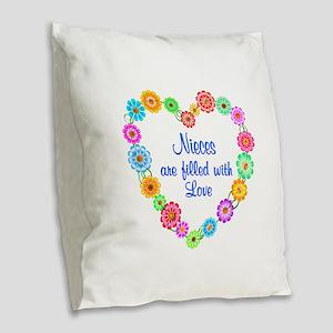 Niece Love Burlap Throw Pillow