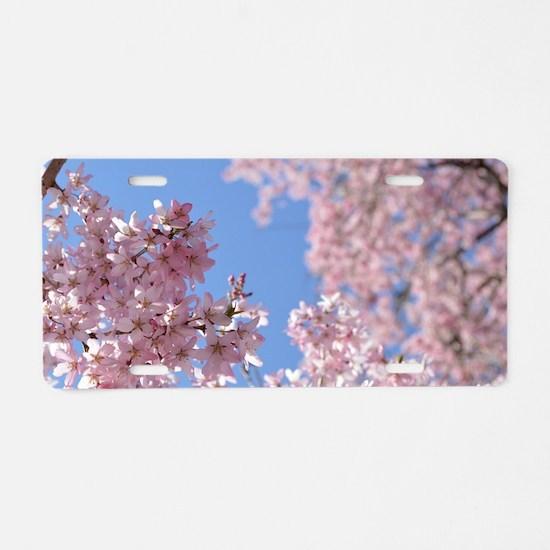 Cherry blossom Tree Aluminum License Plate