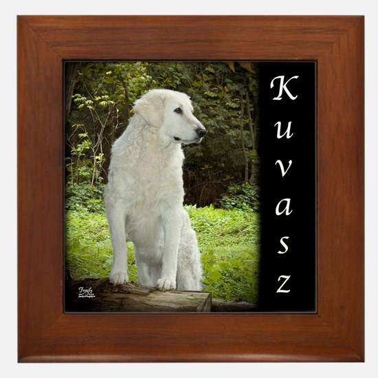 Kuvasz Framed Tile