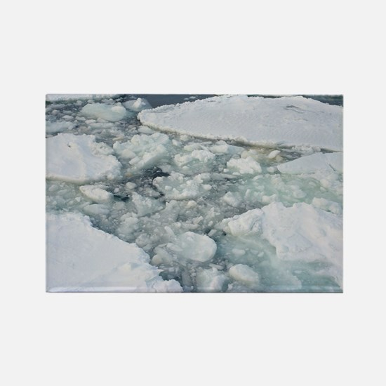 Cracked ice sheet Rectangle Magnet