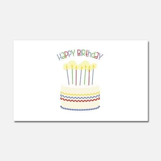 Happy Birthday Car Magnet 20 x 12