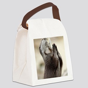 Otter Praying Canvas Lunch Bag
