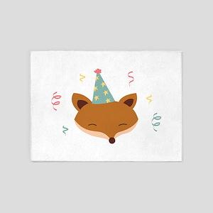 Birthday Fox 5'x7'Area Rug