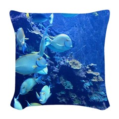 Maui Aquarium Woven Throw Pillow