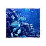 Maui Aquarium Throw Blanket