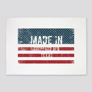 Made in Sheppard Afb, Texas 5'x7'Area Rug