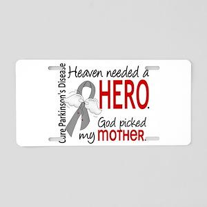Parkinsons HeavenNeededHero Aluminum License Plate