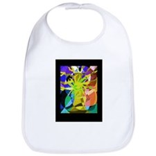 tree of life bright yellow Bib