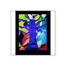 Indigo Tree of Life Square Sticker 3