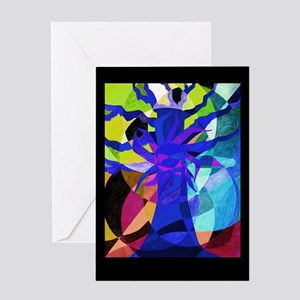 Indigo Tree of Life Greeting Card