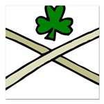 Shamrock and Pipes Square Car Magnet 3