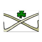 Shamrock and Pipes Rectangle Car Magnet