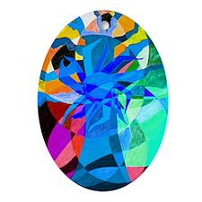 tree of life aqua Ornament (Oval)