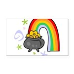 Rainbow with Crock of Gold Rectangle Car Magnet