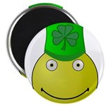 Smiley with Shamrock Magnets