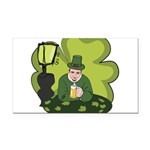St Patricks Day Man with Beer Rectangle Car Magnet