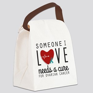 Someone I Love Needs a Cure - Ova Canvas Lunch Bag