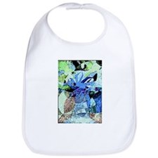 Blue Watercolor Tree Bib