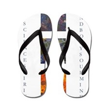 art science spirit poster Flip Flops