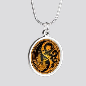 Dragon Phoenix Yin Yang Yellow and Black Necklaces