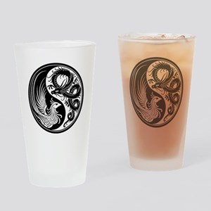 White and Black Dragon Phoenix Yin Yang Drinking G