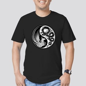 White and Black Dragon Phoenix Yin Yang T-Shirt