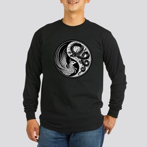 White and Black Dragon Phoenix Yin Yang Long Sleev