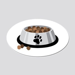 Puppy Dog Food Bowl Wall Decal