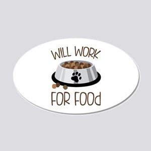 WiLL WoRk FoR Food Wall Decal