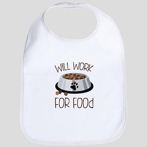 WiLL WoRk FoR Food Bib