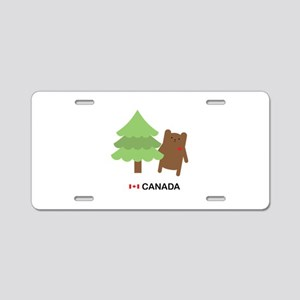 Canada Bear Aluminum License Plate