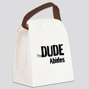 Dude Abides Canvas Lunch Bag