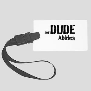 Dude Abides Large Luggage Tag