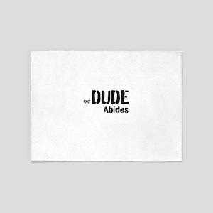 Dude Abides 5'x7'Area Rug