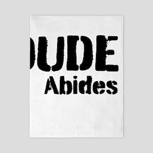 Dude Abides Twin Duvet
