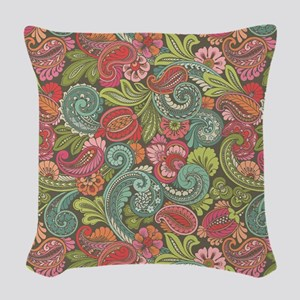 Paisley Cyngalese Woven Throw Pillow