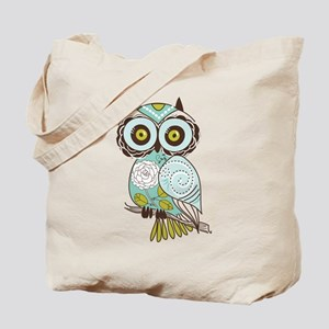 Teal Green Owl -2 Tote Bag