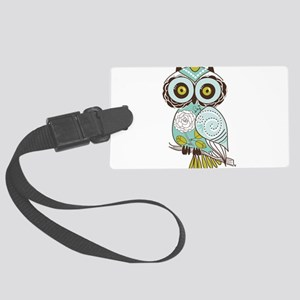 Teal Green Owl -2 Luggage Tag